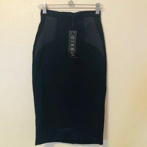 Dark blue Hybrid knee-length pencil skirt XS